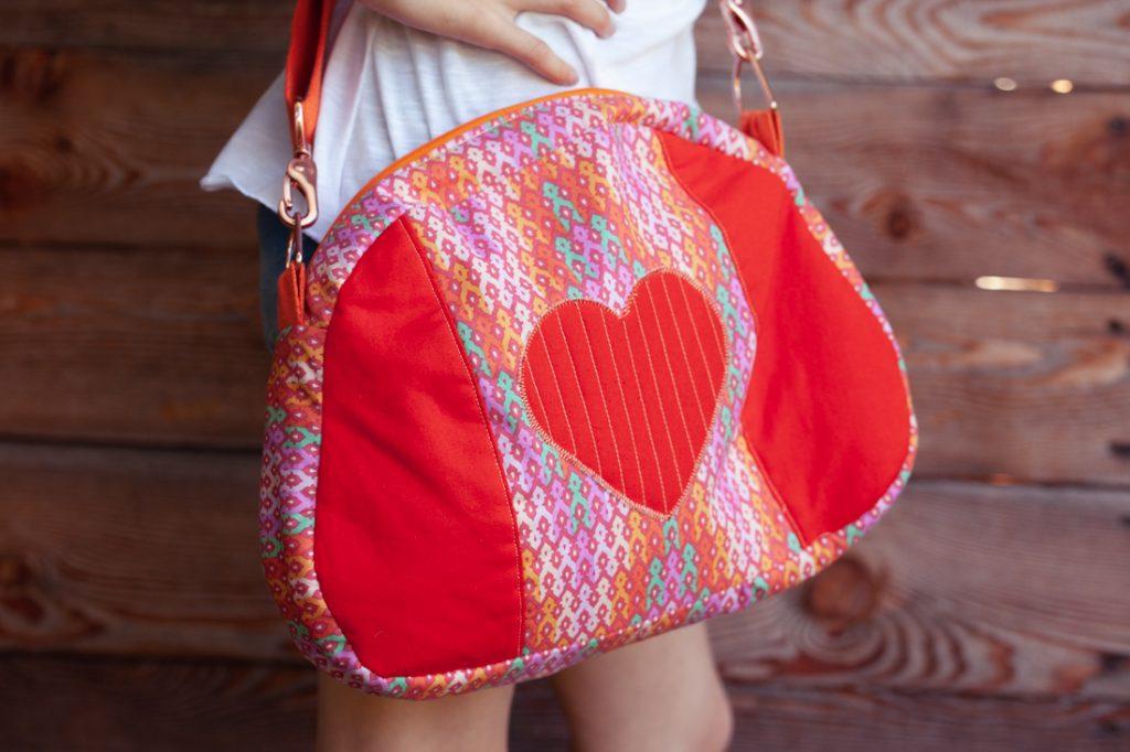 Herzmuschel Tasche selbstgenäht von Taschenspieler 4
