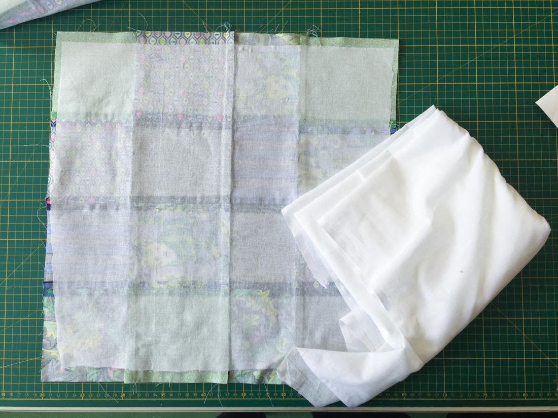 Patchwork-Trail-Tote Bag Vlies aufbügeln