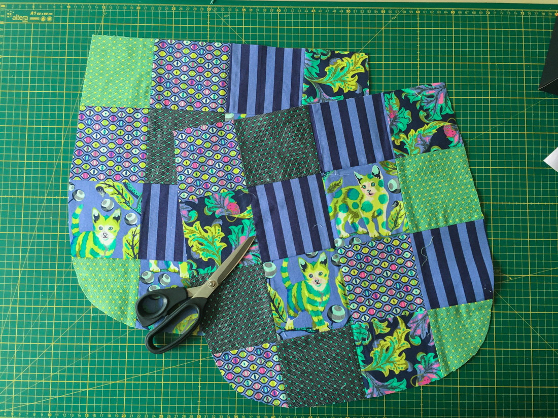 Patchwork-Trail Tote Bag Patchworkteile