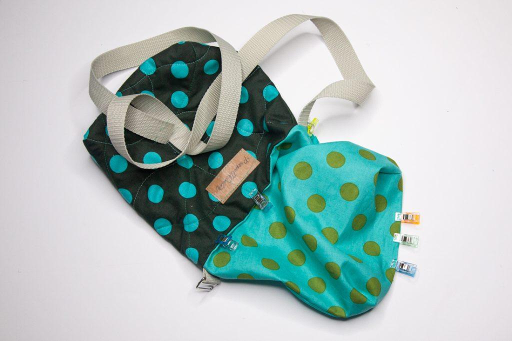 Einfache Tasche mit Pfiff nähen - Nähanleitung für Anfänger